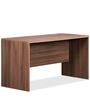 Genius Table with Side Unit in Acacia Dark Finish & Silver Grey by Debono
