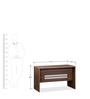 Genius Table with Three Top Hung Drawer in Acacia Dark & Silver Grey by Debono