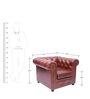 Gentlemans Club Single Seater Sofa in Genuine Leather by Studio Ochre