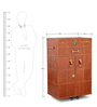 Genuine Leather Bown Bar Cabinet by Studio Ochre
