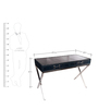 Genuine Leather Study Table in Grey Colour by Three Sixty Degree
