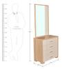 Geo Dresser With Mirror in Beige N Cream Colour by HomeTown