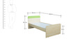 Gia Single Bed with Drawer Storage in Golden Maple & Green Colour by HomeTown