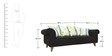 Gilberto Three Seater Sofa with Cushions in Charcoal Grey Colour by CasaCraft