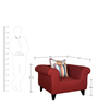 Gilberto One Seater Sofa with Cushions in Burnt Sienna Colour by CasaCraft
