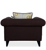 Gilberto One Seater Sofa with Throw Cushions in Chestnut Brown Colour by CasaCraft