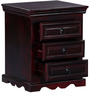 Godefroy Bed Side Table in Passion Mahogany Finish by Amberville