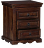 Godefroy Bed Side Table in Provincial Teak Finish by Amberville