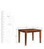 Dallas Four Seater Dining Set in Provincial Teak Finish by Woodsworth