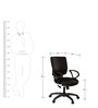 Global Medium Back Ergonomic Chair in Black Colour by Debono