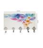 Go Hooked Multicolour MDF Abstract Floral Designer Lightweight Key Holder
