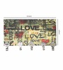 Go Hooked Multicolour MDF Love Theme Key Holder