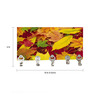 Go Hooked Multicolour MDF Leaves Print Lightweight Key Holder