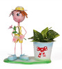 Go Hooked Mini Planter Boy with Flower