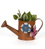 Go Hooked Brown Watering Can/Planter