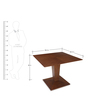 Godwin Four Seater Dining Table in Brown Colour by @ Home