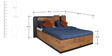 Crystal Furnitech Bedroom Set(Queen Bed with storage+Wardrobe+Side Table)