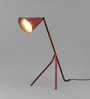 Grated Ginger Red Iron Study Lamp