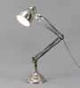 Grated Ginger Silver Iron Study Lamp