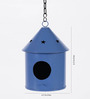 Green Girgit Blue Metal Bird House