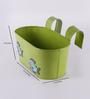 Green Girgit Fish Green Metal Tub Planter