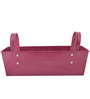 Green Girgit Handpainted Rectangle Planter in Pink Colour
