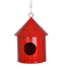 Green Girgit Round Bird House in Red Colour