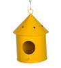 Green Girgit Round Bird House in Yellow Colour