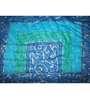 GRJ India Sanganeri Print Blue Cotton Ethnic Single Razai
