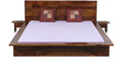 Duvall King Size Bed with Two Bedside Table in Provincial Teak Finish by Woodsworth