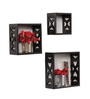 Gumball Eclectic Wall Shelves Set of 3 in Black by Bohemiana
