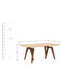 Gustav Six Seater Dining Table in Brown Colour by Asian Arts