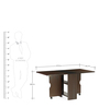Gypsy Four Seater Dining Table in Dark Walnut Finish by @Home