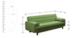 Hamilton Three Seater Sofa in Green Colour by Madesos