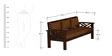 Hamilton Teak Wood Sofa Set (3+1+1) in Mahogany Finish by CasaTeak
