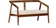 Harrington Two Seater Sofa in Provincial Teak Finish by Woodsworth