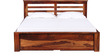 Weston King Bed with Storage in Provincial Teak Finish by Woodsworth