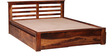 Weston Queen Bed with Storage in Provincial Teak Finish by Woodsworth