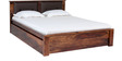 Morton King Bed with Storage in Provincial Teak Finish by Woodsworth