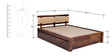 Olney King Bed with Upholstered Headboard & Storage in Provincial Teak Finish by Woodsworth