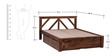 Harrington King Bed With Storage in Provincial Teak Finish by Woodsworth