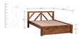 Harrington Queen Size Bed in Provincial Teak Finish by Woodsworth