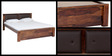 Morton Queen Size Bed in Provincial Teak Finish by Woodsworth