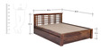 Lynden Slatted Queen with Storage in Provincial Teak Finish by Woodsworth