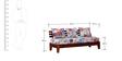 Hayden Three Seater Sofa in Honey Oak Finish by Bohemiana