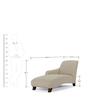 Hadler Lounger Sofa in Beige Colour by Madesos