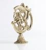 Handecor Golden Brass Divine Om Ganesh Tableware Statue Showpiece