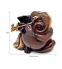 Handecor Multicolour Brass Murli Ganesha Showpiece