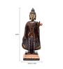 Handecor Multicolour Brass Standing Buddha Statue