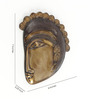 Handecor Multicolour Brass Tribal Face Wall Hanging